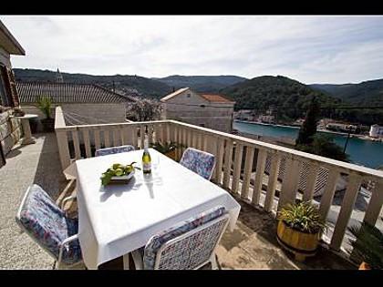 H(4): terrace - 35190  H(4) - Povlja - Povlja - rentals