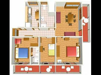 A1(5+1): floor plan - 35355  A1(5+1) - Makarska - Makarska - rentals