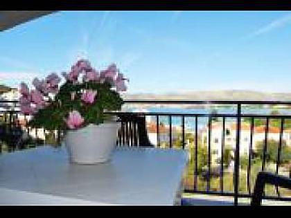 A2 Adriatic (2+2): terrace view - 35358  A2 Adriatic (2+2) - Okrug Gornji - Okrug Gornji - rentals