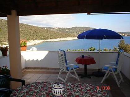 A2(4+1): terrace view - 2302 A2(4+1) - Cove Ostricka luka (Rogoznica) - Cove Kanica (Rogoznica) - rentals