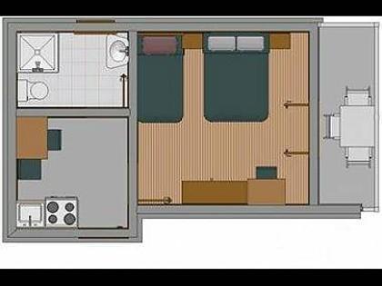 A(2+1): apartment - 2338  A(2+1) - Baska Voda - Baska Voda - rentals