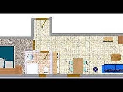A23(2+2): floor plan - 2566 A23(2+2) - Biograd - Biograd - rentals