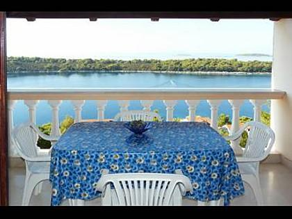 A2(4+1): terrace - 2799 A2(4+1) - Cove Karbuni (Blato) - Vela Luka - rentals