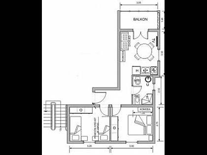 A6(4+1): floor plan - 2842 A6(4+1) - Postira - Postira - rentals
