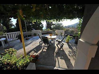 A1(2+3): terrace - 3185  A1(2+3) - Omis - Central Dalmatia - rentals