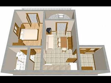 A2(2+3): floor plan - 2112 A2(2+3) - Novi Vinodolski - Novi Vinodolski - rentals