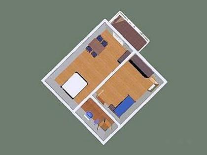 SA Jugo(2+1): floor plan - 3512 SA Jugo(2+1) - Tucepi - Tucepi - rentals
