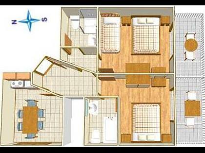 A1(5): floor plan - 3658  A1(5) - Podgora - Podgora - rentals