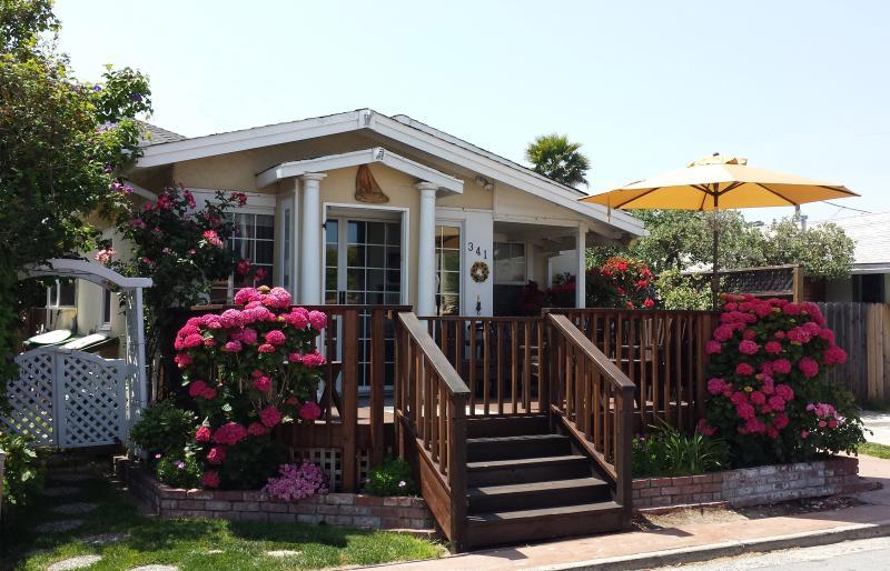 Bucks Beach Bungalow is less than a block to the Ocean & just 9-homes to Beach - Bucks Beach Bungalow-7doors to Beach, Hot Tub etc - Santa Cruz - rentals