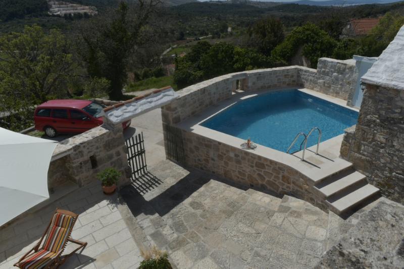 H(4+3): terrace view - 00201DHUM  H(4+3) - Donji Humac - Donji Humac - rentals