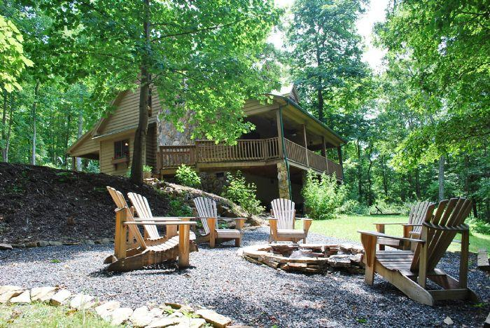 Tranquility with Firepit Area  - Tranquility-Private Cabin with hot tub - Jefferson - rentals