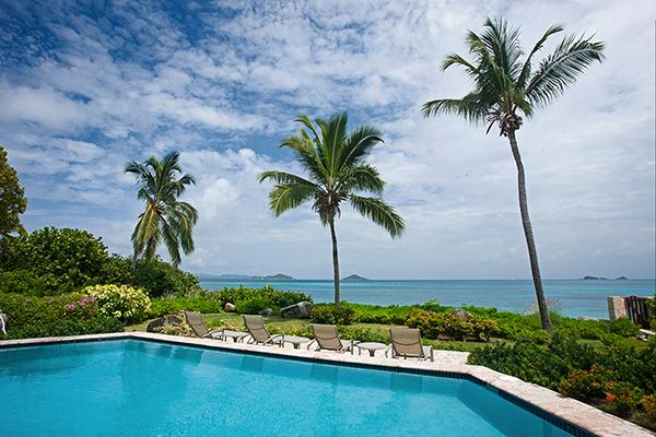 Private villa next to a shared tennis court, this villa overlooks the beach and its own pool. VG CAR - Image 1 - Mahoe Bay - rentals