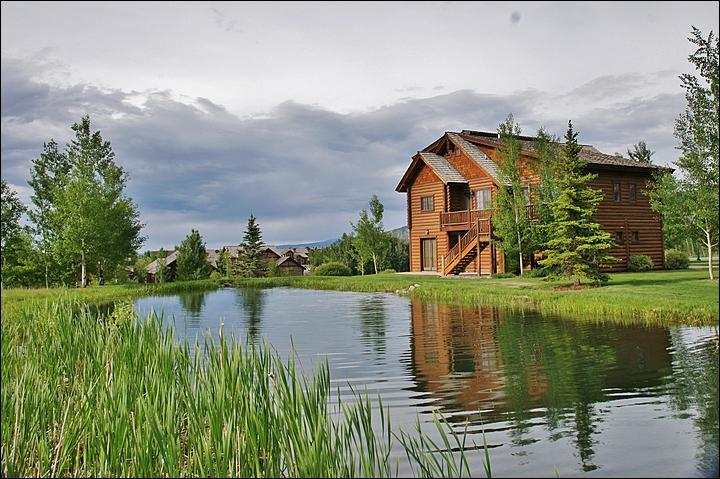 A beautiful new home with a stocked trout pond right out back - Brand New Immaculate Log Home  - Luxurious Quality - Huge Rooms (6183) - Jackson - rentals