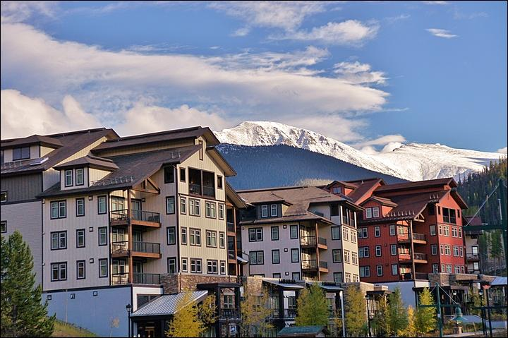 Exterior View of the Condo Building and Continental Divide - Great Location in the Heart of the Base Area - Nicely Furnished, Upscale Finishes (24001) - Winter Park - rentals