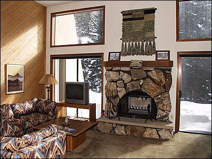 Living Room - Wood Fireplace, Sleeper Sofa, Creekside Patio - Quietly Nestled at a Great Value - Creekside - Close to Slopes (1027) - Vail - rentals