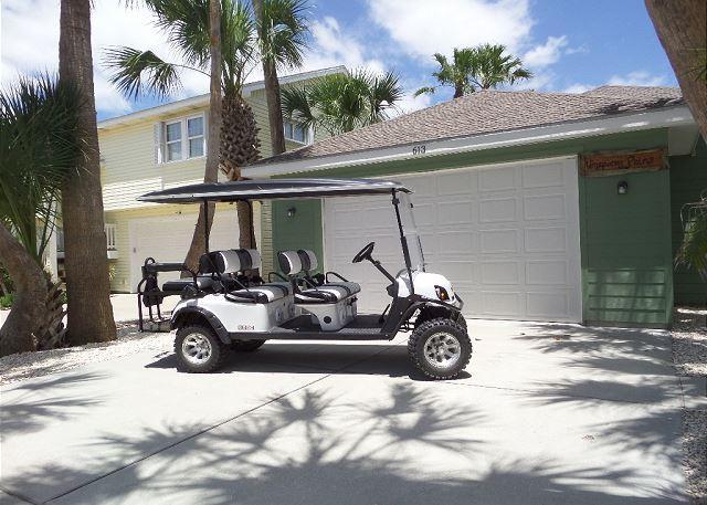 Free 6 Seat Golf Cart - FREE 6 SEAT GOLF CART Whispering Palm 3/2, pet friendly, WIFI - Port Aransas - rentals