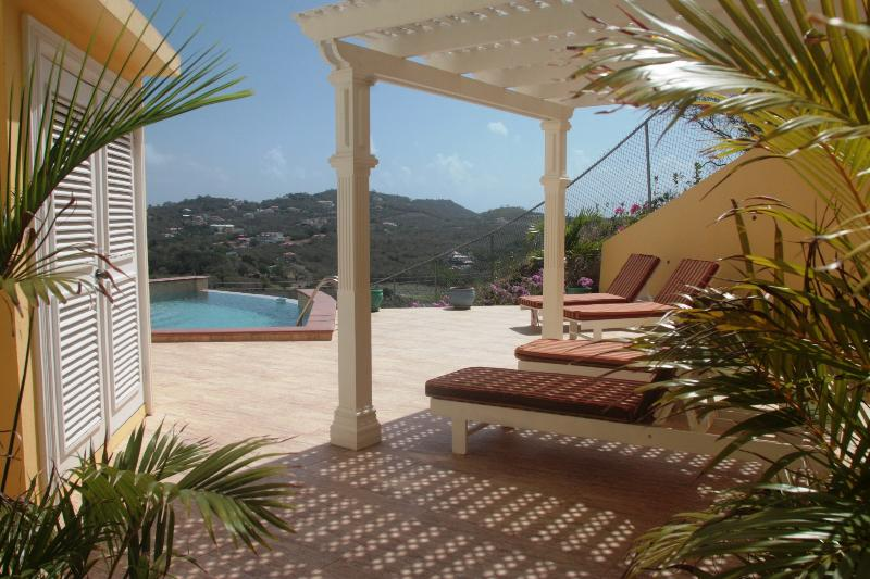 Sun deck with infinity edge pool - South Sea House Apt 1 - Luxurious But Great Value - Cap Estate, Gros Islet - rentals