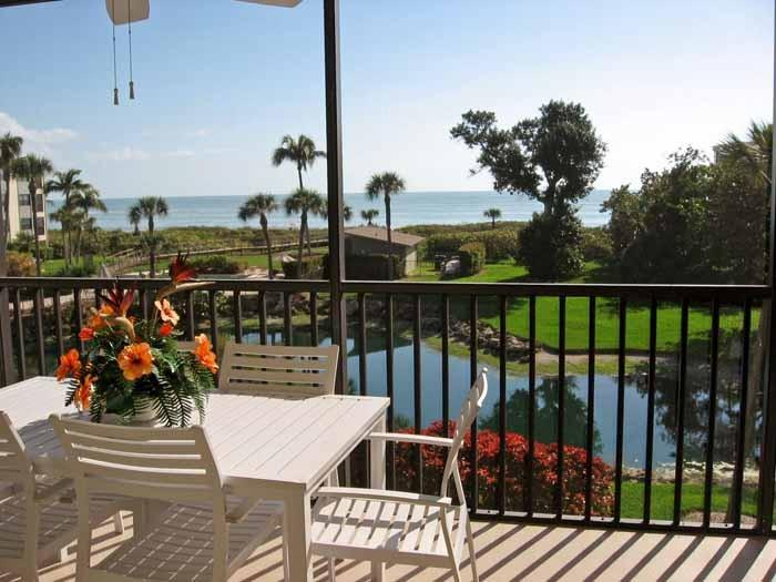 View from Sand Pointe #226 - Sand Pointe-Stunning Gulf View - Wi-Fi, Hi-Def TV - Sanibel Island - rentals