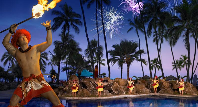 Every Friday night at Ilikai Hotel Polynesian Show followed by Fireworks - Ocean Front New Modern 1 Bdr Ilikai Hotel - Honolulu - rentals