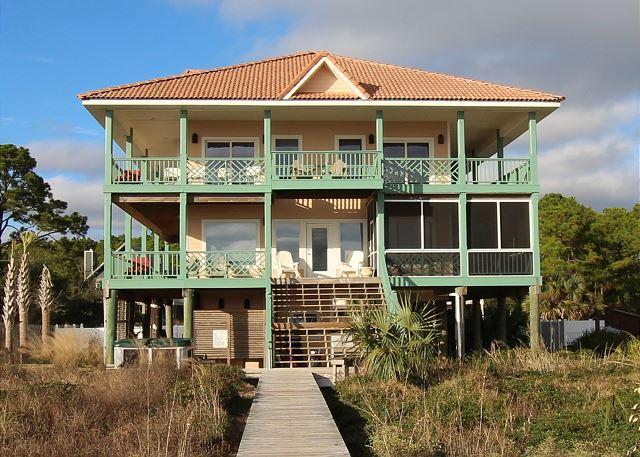Beachfront, Private Heated Pool, Hot tub, Screen Porch, WIFI - Image 1 - Port Saint Joe - rentals