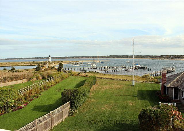 View from house - BEAUTIFUL WATERFRONT CAPTAIN'S HOUSE W/CENTRAL AIR - Edgartown - rentals