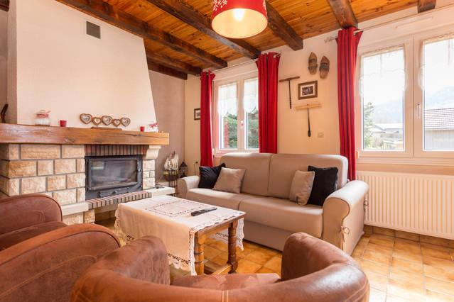 Living room with fireplace - Holiday House for 8 personnes La Bresse, Vosges - La Bresse - rentals