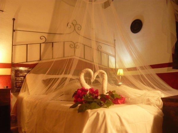 The Bedroom of the Condo - Rustic Hacienda Lodge  ,  Condo El Cuyo - El Cuyo - rentals