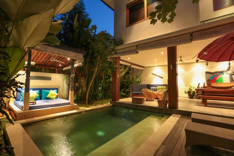 Villa lighting at night - Pulau Villas - Modern stylish accomodation combine - Bali - rentals