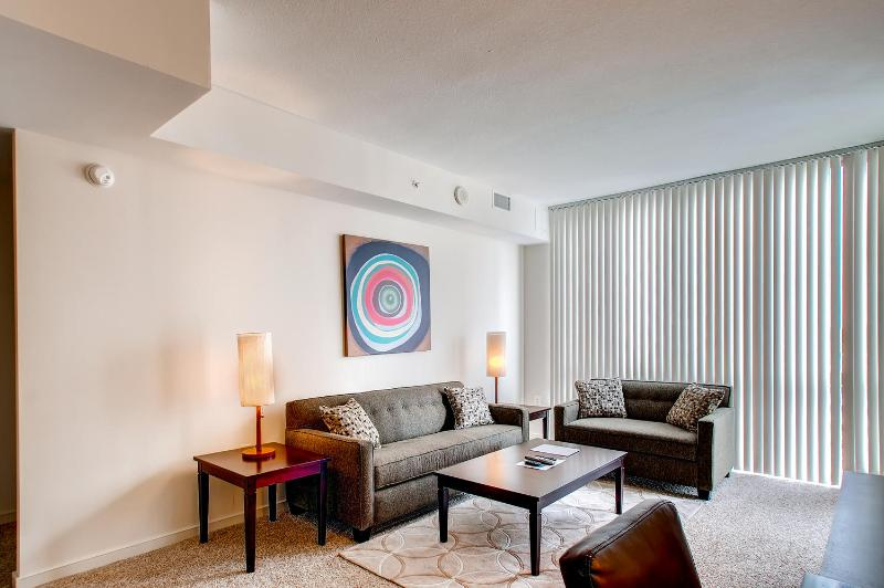 Living Room - Lux 2 BR Apt at Reston Town Center - Reston - rentals
