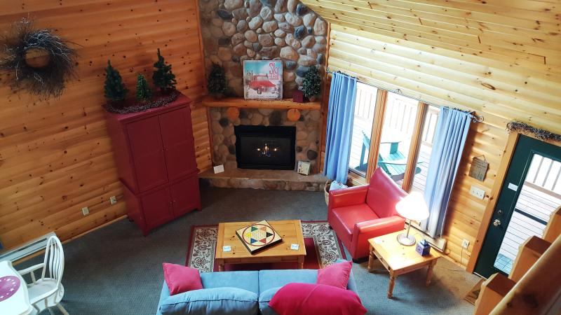 Open, vaulted great room with cozy furnishings and charming decor. - Lutsen's cutest rental - Lake and mountain views - Lutsen - rentals