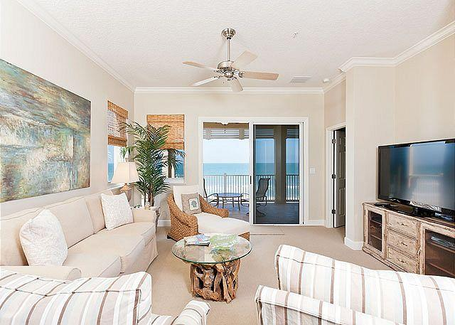 Plenty of room, and beautiful views - 551 Cinnamon Beach, 5th Floor OceanFront, HDTV Wifi, Newly Updated as of 2012 - Palm Coast - rentals