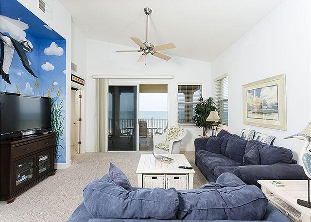 Sink into our comfy couches and enjoy the view - 565 Cinnamon Beach, Ocean Front 6th Floor Penthouse, HDTV, Sleeps 12, Wifi - Palm Coast - rentals