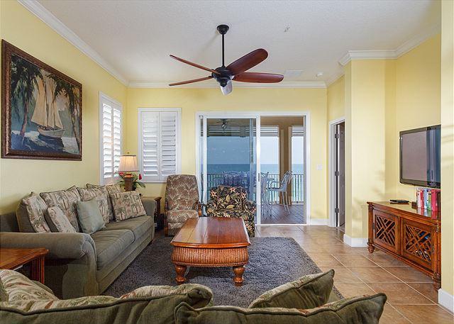 Cinnamon Beach 751 comfortably sleeps ten people! - 751 Cinnamon Beach, 5th Floor OceanFront Oversized Balcony, HDTV, Wifi - Palm Coast - rentals