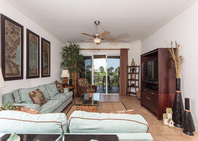 Cinnamon Beach 122 comfortably sleeps eight people! - 122 Cinnamon Beach Condo for Rent, 5 Star Reviews, 2 Heated Pools, Wifi - Palm Coast - rentals