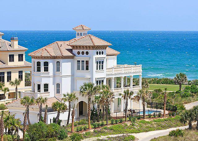 Enjoy the ocean front beach vacation of your dreams - Hammock Beach Mansion OceanFront 6+ Bedrooms, Elevator, Private Pool, HDTVs - Palm Coast - rentals