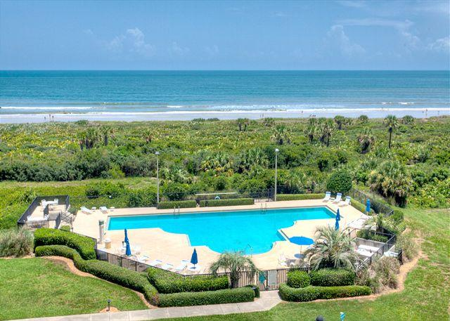 Just one of Surf Club's pools, surrounded by natural dunes. - Surf Club I 1403, Ocean Front, 4th Floor, Updated, HDTV, Blue Ray - Palm Coast - rentals