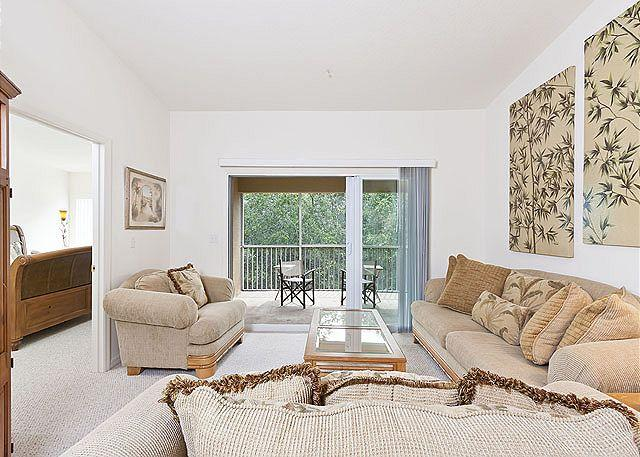 Get captured in comfort in our living area - Canopy Walk 242 near European Village, 3 bedrooms, Pool, Spa - Palm Coast - rentals