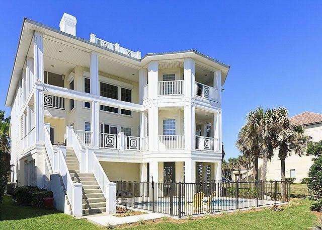 Casa La Duna has 2000 square feet of patio & balcony space! - Casa La Duna, BeachFront 6 Bedrooms, Elevator, Theatre, HDTV, New Pool - Palm Coast - rentals