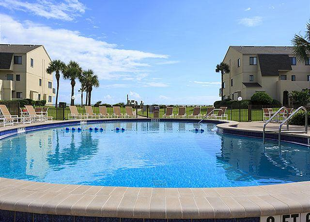 "Go ahead, put your toes in the heated water. - Summerhouse 459 Ocean Front, 2nd & 3rd Floor Ocean Front, 42"" HDTV, Blue Ray - Saint Augustine - rentals"