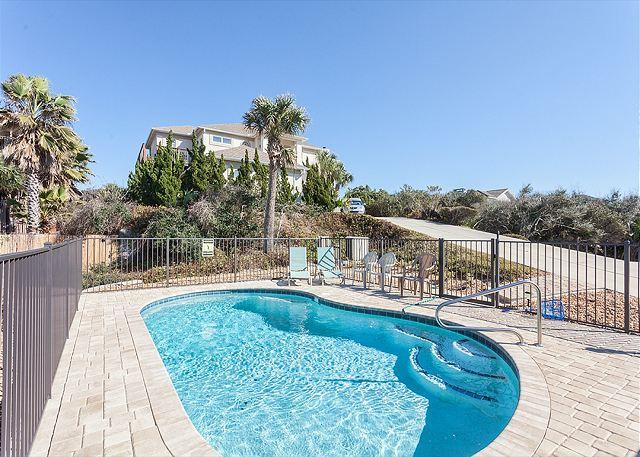 Take a last dip before bed - Amazing Grace Beach Front House, 3 bedrooms, Brand New Pool, HDTV, wifi - Saint Augustine - rentals