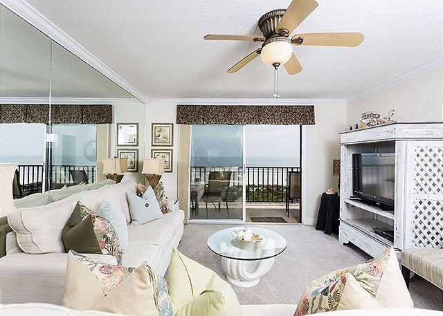 Enjoy ocean views and our HDTV! - Windjammer 214 Beach Front, Elevator, Pool, St Augustine Beach - Saint Augustine - rentals