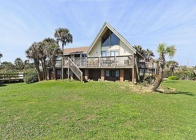Our 7 bedroom Beach Haven Beach House is set on a cul-de-sac - Beach Haven Beach House, 7 Bedroom, Ocean Front & HDTVs - Sleeps 14 - Palm Coast - rentals