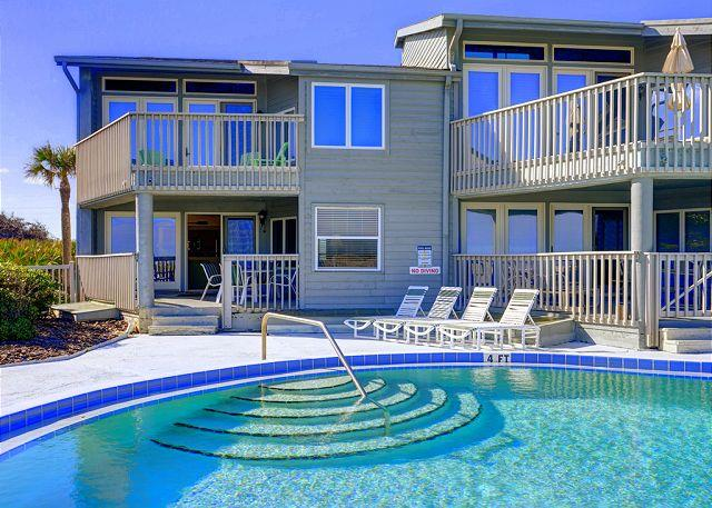 Only 8 condos share this pool! - Ocean Eight 104 - 3 Bedrooms, Ocean Front, Pool, Crescent Beach - Saint Augustine - rentals