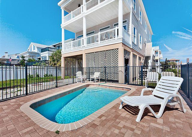 Our private swimming pool is an extra bonus! - Pirates Paradise Beach Home, 5 Bedrooms, Ocean Views, Small Private Pool - Saint Augustine - rentals