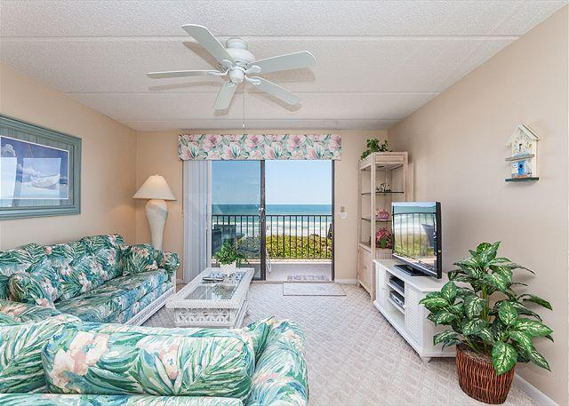 Stay in our tropically inspired condo - Windjammer 210 Luxury Beach Front, Newly Updated, Elevator, HDTV - Saint Augustine - rentals