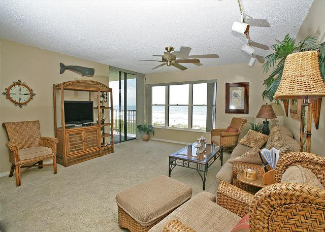 The Atlantic Ocean is just yards away from this condo! - Sand Dollar II 207 BeachFront 3 Bedroom with Pool, St Augustine - Saint Augustine - rentals