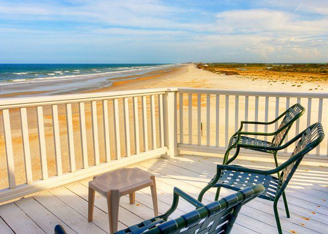 This could be your morning coffee break - Blue Water View, Beach Front House, 4 bedrooms, Elevator, HDTV - Saint Augustine - rentals