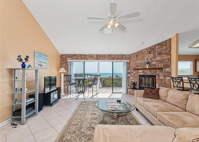 Our living room is THE place to gather at Sun Dancer house! - Sun Dancer Beach House, 2 Bedroom Beach Front, Ponte Vedra Beach - Ponte Vedra Beach - rentals