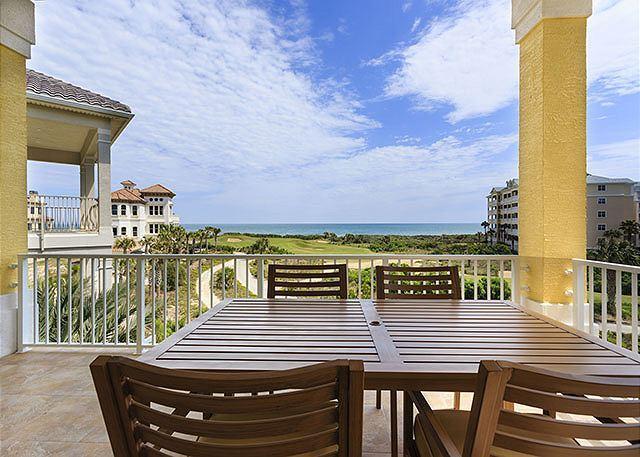 The Atlantic is at your feet from the 3rd-floor balcony! - Atlantic Vista, New Ocean View, 5 Bedrooms, Elevator, Game Room, Balconies - Palm Coast - rentals