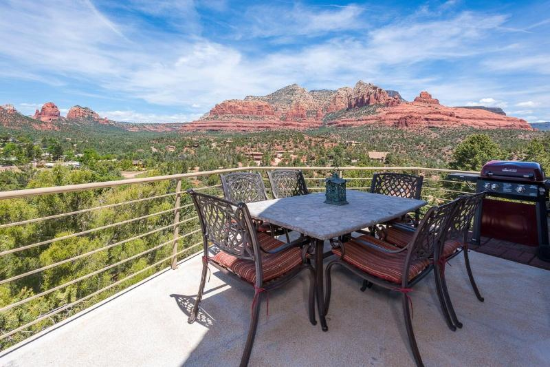 Views from the multiple decks - Hot Tub-Red Rock Views-Luxury-Private-Value Home - Sedona - rentals